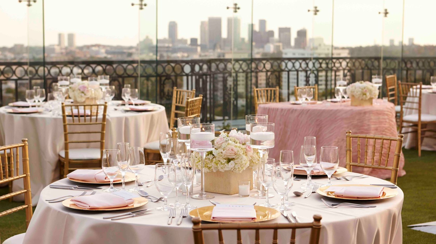 rooftop wedding detail