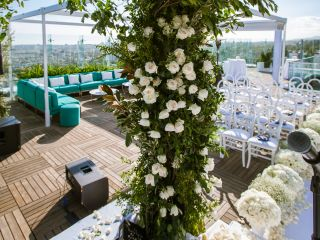 wedding rooftop ceremony penthouse